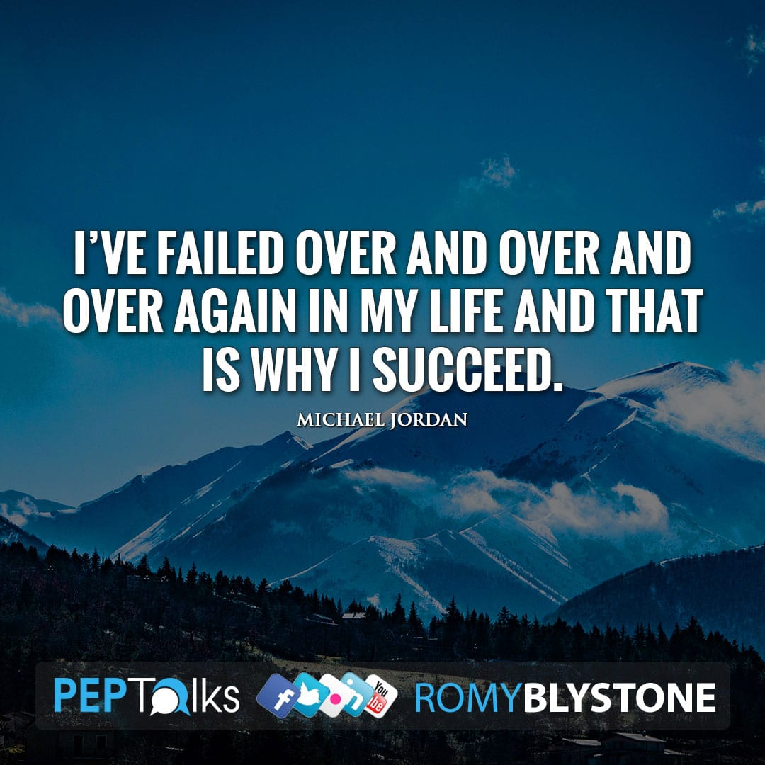 I've failed over and over and over again in my life and that is why I succeed. by Michael Jordan